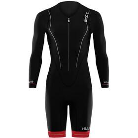 HUUB Race Full Sleeve Trisuit Heren, black/red